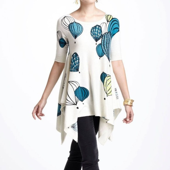 Anthropologie Tops Anthro Field Flower By Wendi Reed Rainy Day Poshmark